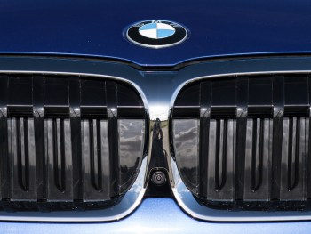BMW badge grille and camera