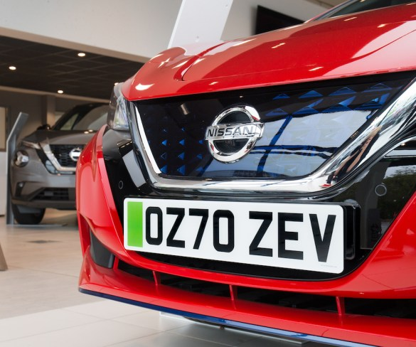 Green number plates go on trial at Nissan dealers