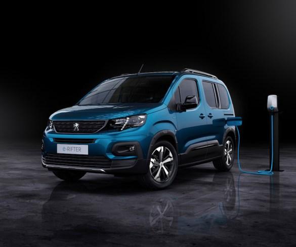 Peugeot debuts fully electric e-Rifter MPV