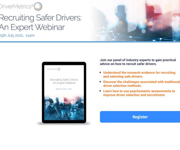 DriverMetrics webinar to help fleets recruit safer drivers