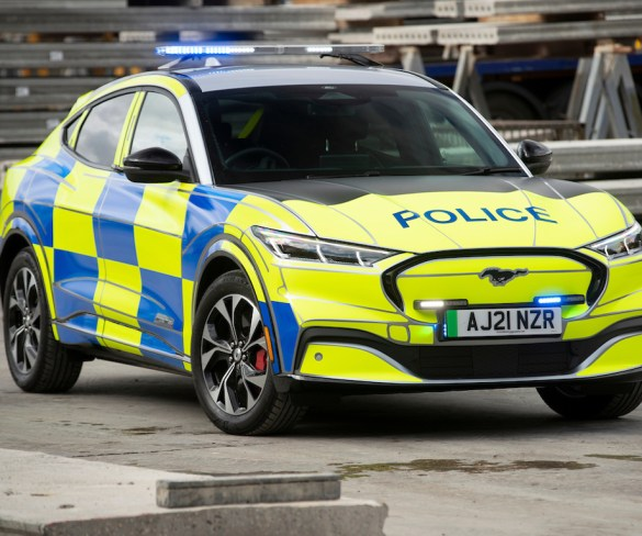 Ford builds Mustang Mach-E police concept