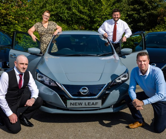 Nissan supplies electric Leafs for new north-east transport hub