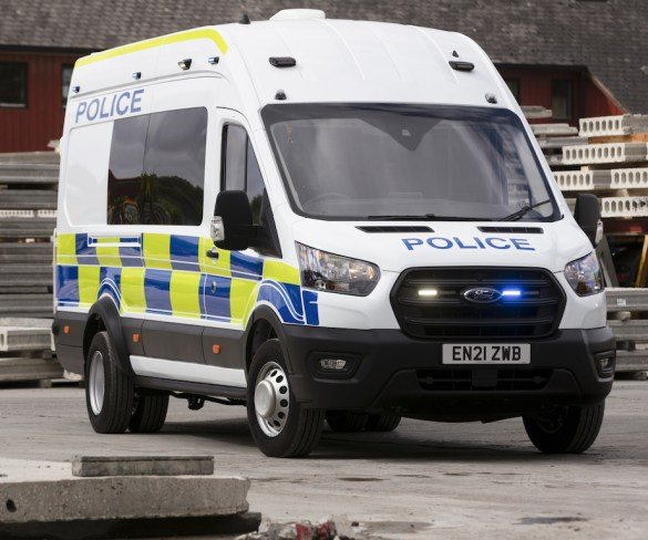 Ford's 5.0-tonne Transit scores crucial role as police riot van
