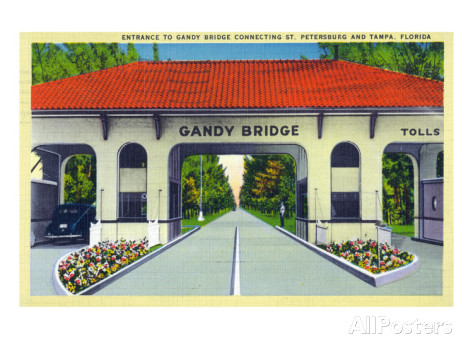 lantern-press-st-petersburg-florida-gandy-bridge-entrance-to-tampa