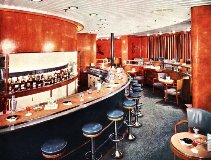 Observation Lounge aboard the RMS Queen Elizabeth.