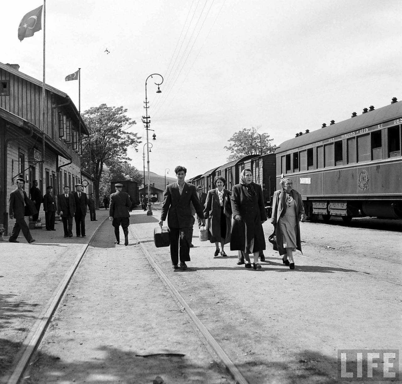 At Uzunköprü, where two M.G.B. men were tossed off the train.