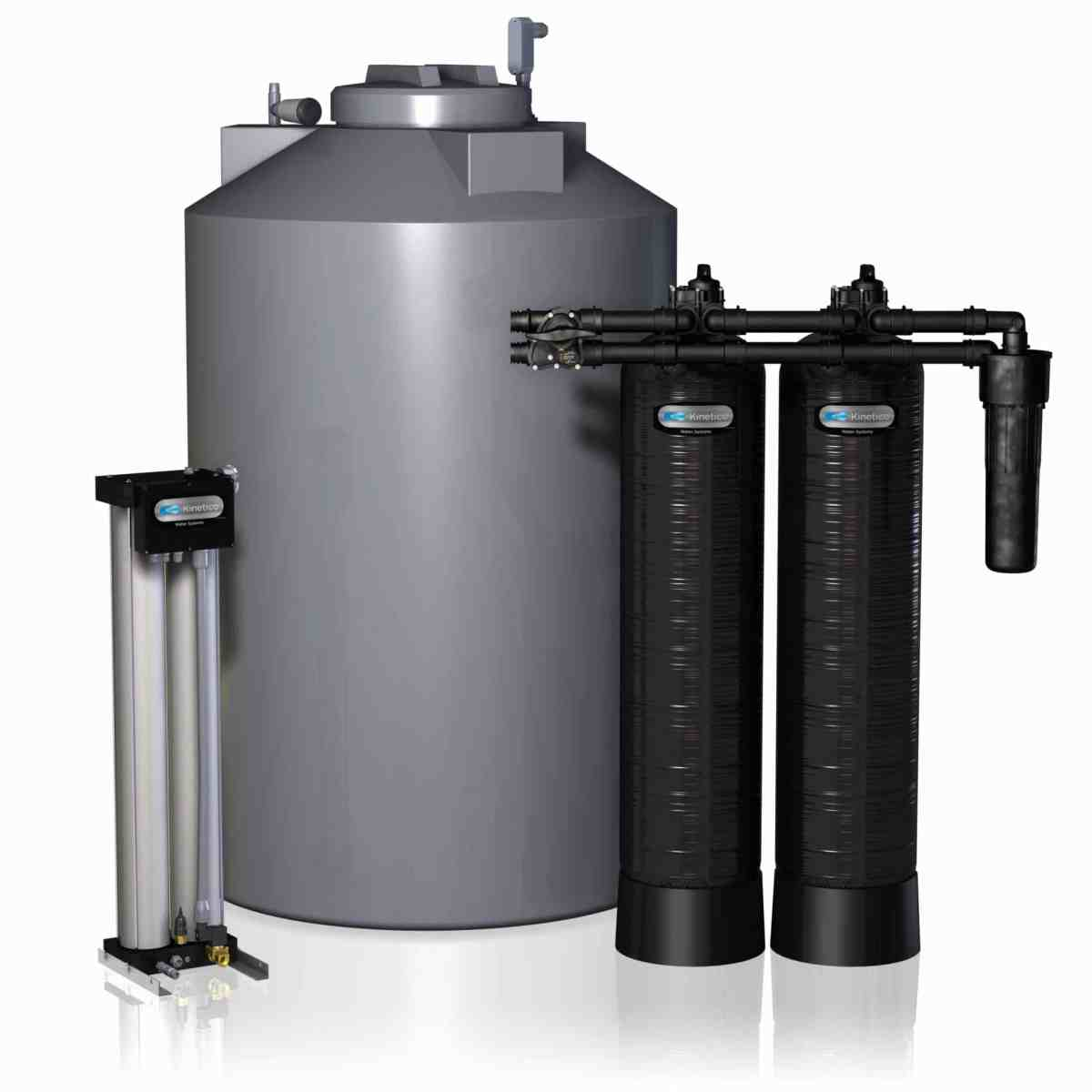Kinetico water treatment system tanks