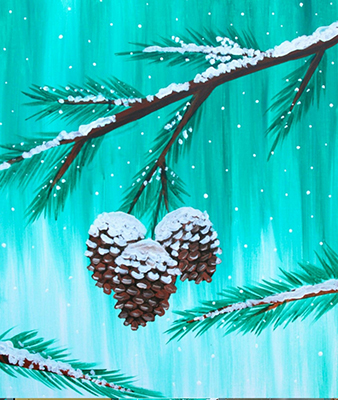 November 11: Pinecones (Chalk Pastel)
