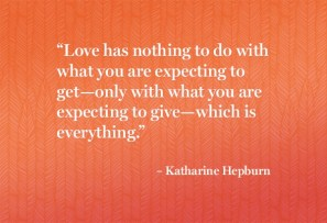 Love is about giving