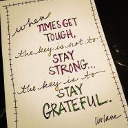 The sheer power of gratitude