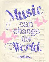 Music unites and heals the world