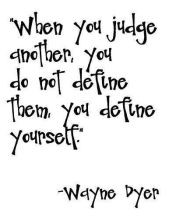 Free yourself of judgement