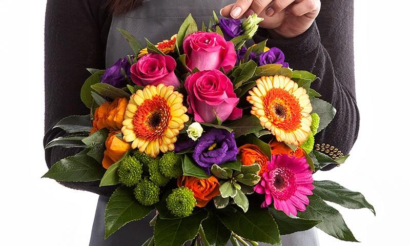 Bouquet de fleurs multicolore fleuristes et fleurs