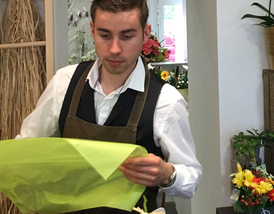 Franck artisan fleuriste Au Pot aux Roses à Nort sur Erdre-44390