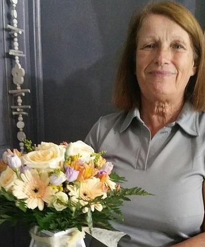 Caroline, gagnante du jeu youpi fleurs. Tirage spécial rentrée du 14 septembre 2016