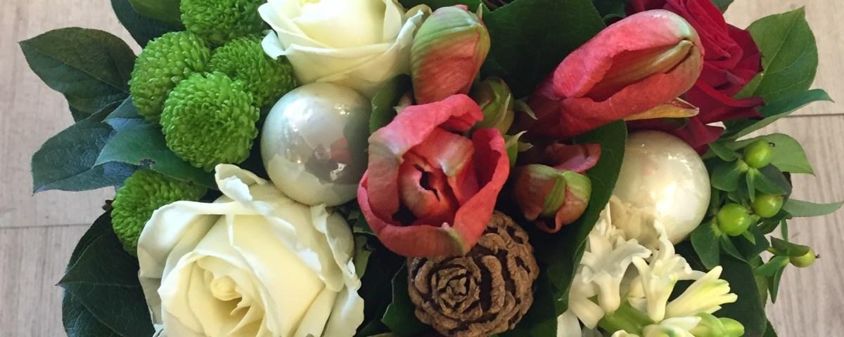 bouquet rond réalisé par Audrey pour IL ETAIT UNE FLEUR fleuriste à Chalonnes sur Loire-49290