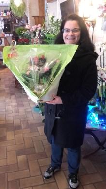 Sandrine, gagnante du jeu Youpi Fleurs, tirage spécial noël du mercredi 21 décembre 2016
