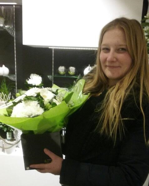 Eugenie, gagnante du jeu Youpi Fleurs, tirage du mercredi 4 janvier 2017