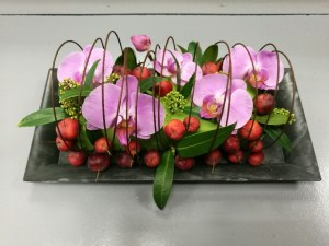 Composition par Emilie pour les fleurs de mûres fleuriste à Montville-76710