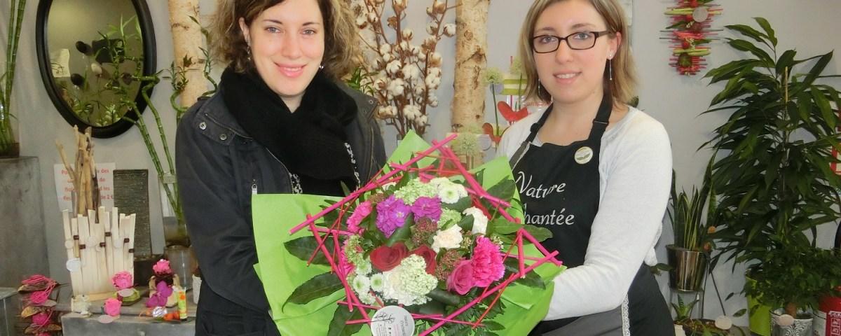 Aline, gagnante du jeu Youpi Fleurs, tirage du mercredi 8 février 2017