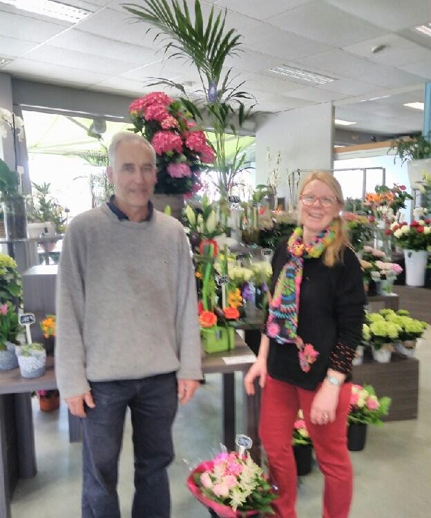 """Vos artisans fleuristes à Belz (56550), Thomas et Gisèle pour """"Bretagne Fleurs"""""""