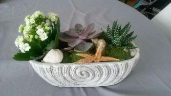 Création réalisée par Catherine, artisan fleuriste pour Fleurs Nature Elle