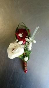 Boutonnière de mariage par BRINDILLES