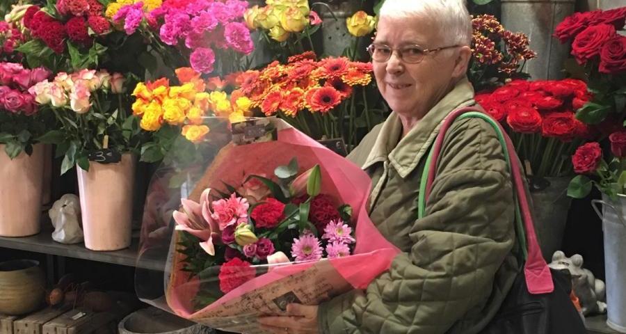Edith, gagnante du jeu youpi fleurs
