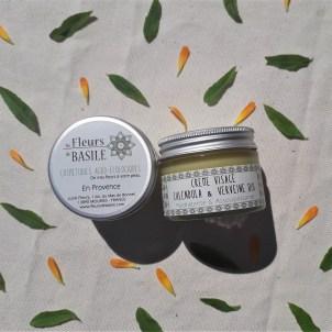 Crème visage bio Calendula verveine, Fleurs de Basile