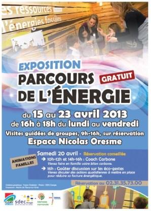 Exposition parcours de l'énergie du 15 au 23 avril