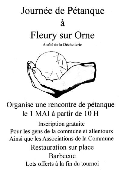 L'Amicale Bouliste organise une rencontre de pétanque le 1er Mai à partir de 10h