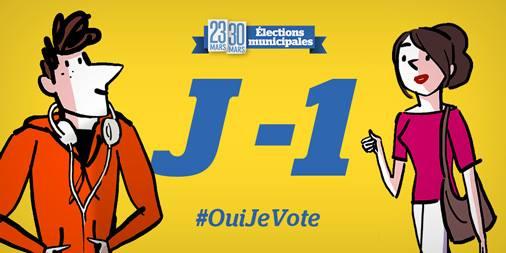 Demain, dimanche 23 mars ON VOTE