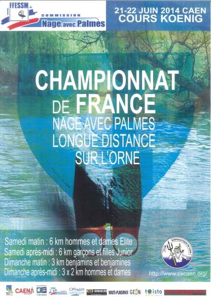 Championnat de France nage avec palmes