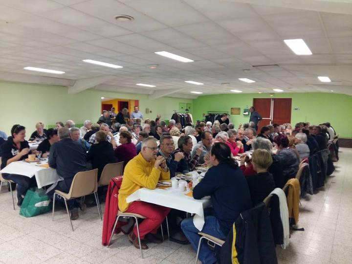 Soirée beaujolais organisée par l'AJFW