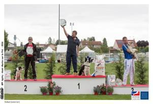Adrien GRESPIER et son chien Gumball 3èmes du grand prix de France d'agility