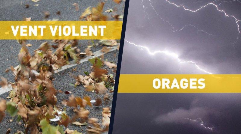 Vigilance vent violent orages