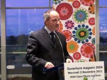Discours de Marc Lecerf lors de l'ouverture du magasin Ikea