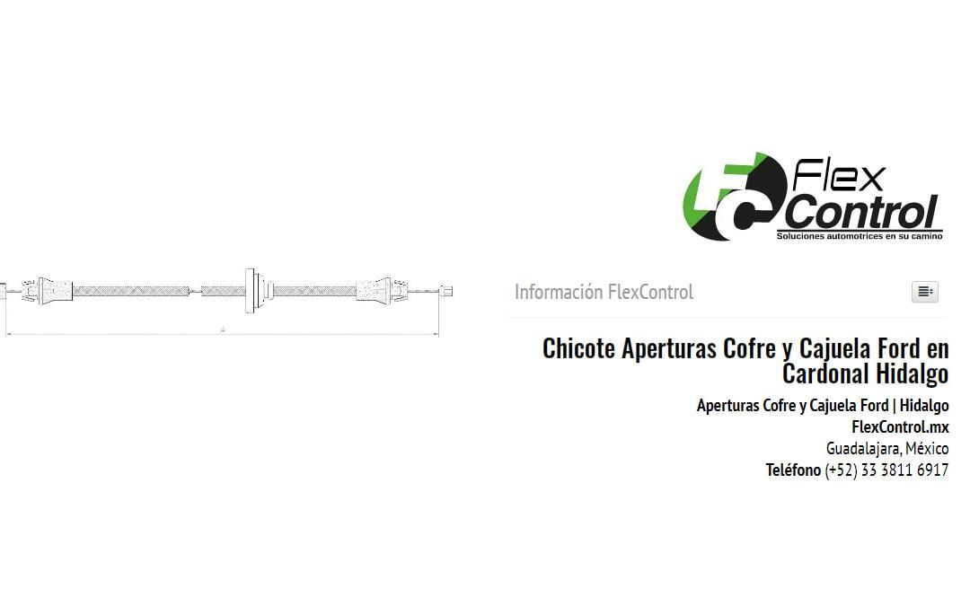 Chicote Aperturas Cofre y Cajuela Ford en Cardonal Hidalgo