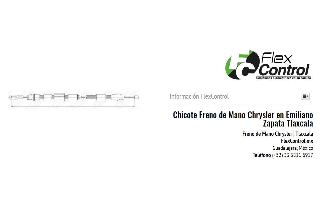 Chicote Freno de Mano Chrysler en Emiliano Zapata Tlaxcala