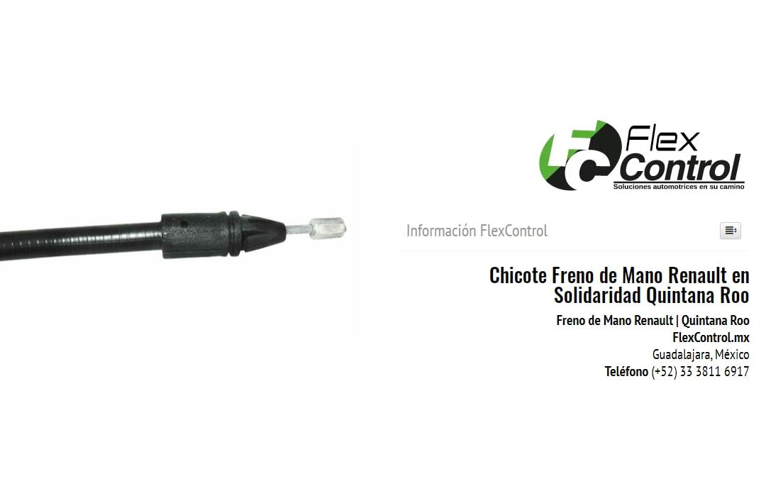 Chicote Freno de Mano Renault en Solidaridad Quintana Roo