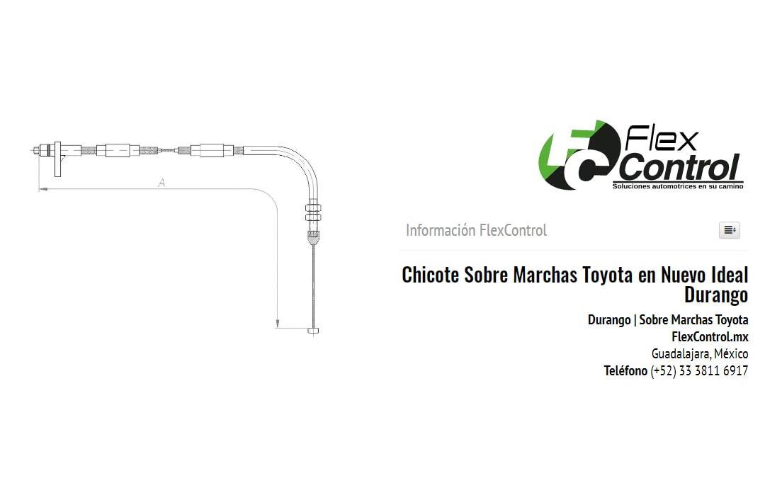 Chicote Sobre Marchas Toyota en Nuevo Ideal Durango
