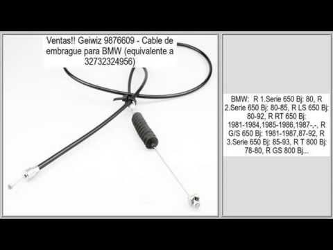 Geiwiz 9876609 – Cable de embrague para BMW (equivalente a 32732324956) opiniones