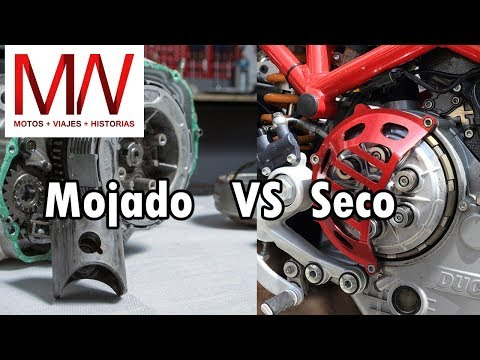 Embrague seco vs húmedo en motos VENTAJAS/DESVENTAJAS