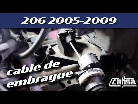 Reemplazar cable de  embrague  PEUGEOT 206 2005-2009