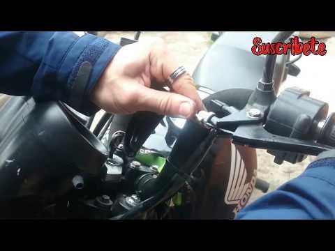 Como lubricar cable de embrague (honda titan)