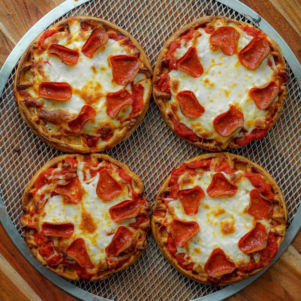 Air Fryer Waffle Pizza