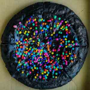 Protein Cosmic Brownie Dessert Pizza