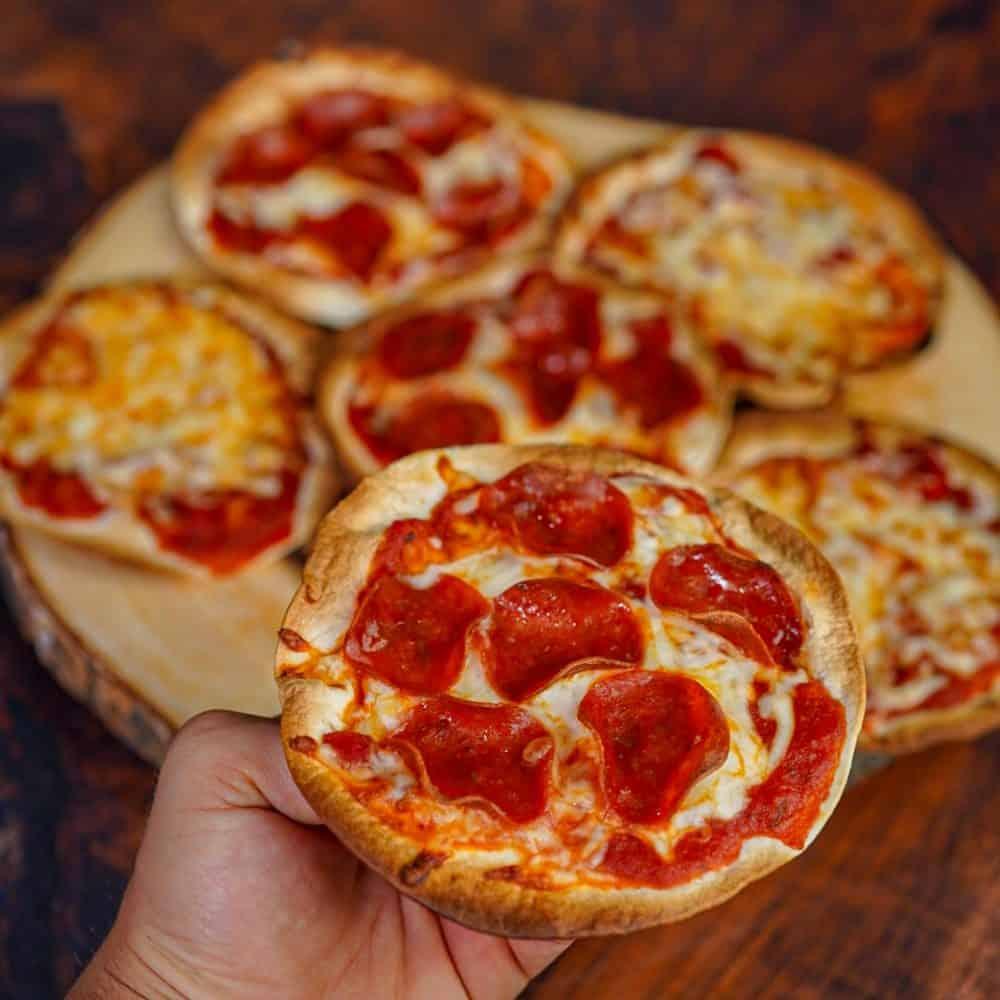 Tortilla Pizza Hand Held
