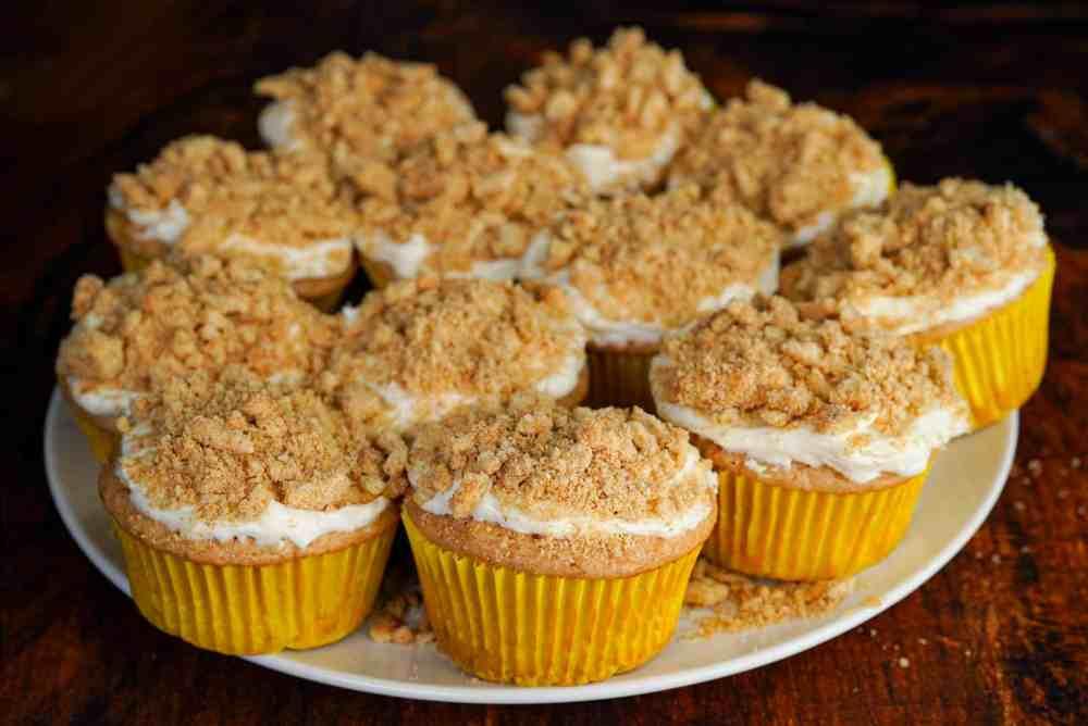 Churro Cheesecake Protein Cupcakes