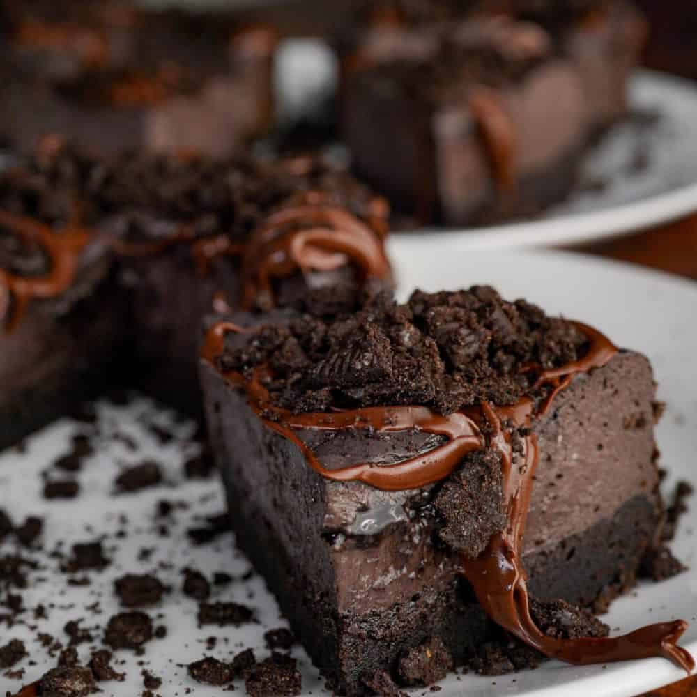 Personal Pan Fudge Brownie Protein Cheesecakes